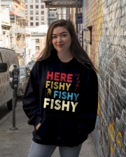 HERE FISHY FISHY FISHY Hooded Sweatshirt lifestyle-unisex-hoodie-front-1