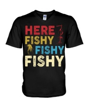 HERE FISHY FISHY FISHY V-Neck T-Shirt thumbnail