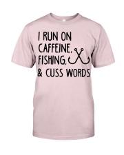 I RUN ON CAFFEINE FISHING Premium Fit Mens Tee thumbnail