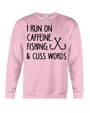I RUN ON CAFFEINE FISHING Crewneck Sweatshirt thumbnail