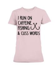 I RUN ON CAFFEINE FISHING Premium Fit Ladies Tee thumbnail