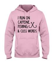 I RUN ON CAFFEINE FISHING Hooded Sweatshirt front