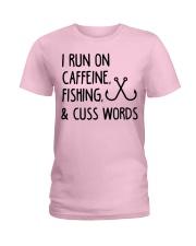 I RUN ON CAFFEINE FISHING Ladies T-Shirt thumbnail
