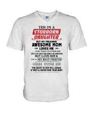 Stubborn Daughter V-Neck T-Shirt thumbnail
