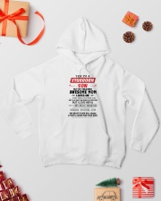Stubborn Son Hooded Sweatshirt lifestyle-holiday-hoodie-front-2