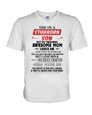 Stubborn Son V-Neck T-Shirt thumbnail