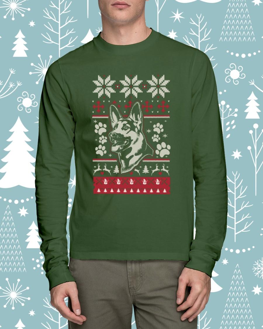 German Shepherd Christmas Sweater.German Shepherd Ugly Christmas Sweaters