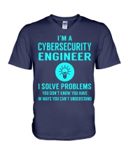 Cybersecurity Engineer V-Neck T-Shirt thumbnail