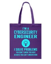Cybersecurity Engineer Tote Bag thumbnail