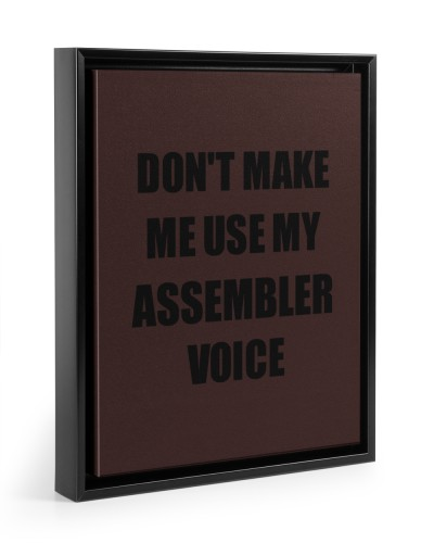 Don't Make Me Use My Assembler Voice Funny Coworke