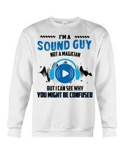 Sound Guy Not Magician Crewneck Sweatshirt thumbnail