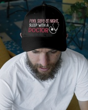 Feel Safe At Night Sleep With Doctor Embroidered Hat garment-embroidery-hat-lifestyle-06