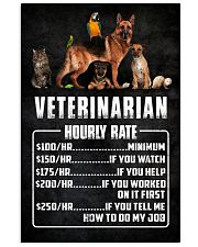 Veterinarian Hourly Rate 11x17 Poster front
