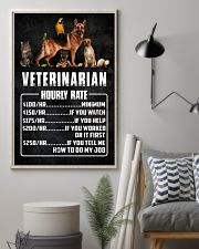 Veterinarian Hourly Rate 11x17 Poster lifestyle-poster-1