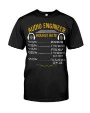 Audio Engineer Hourly Rate Premium Fit Mens Tee thumbnail