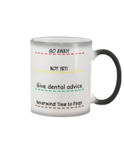 Give Dental Advice Color Changing Mug tile