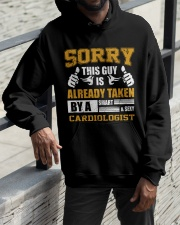 Sorry This Guy Taken By Cardiologist Hooded Sweatshirt apparel-hooded-sweatshirt-lifestyle-front-11