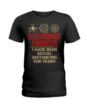 Electronics Engineer Has Been Social Distancing Ladies T-Shirt thumbnail
