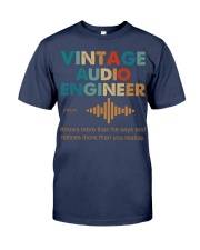 Vintage Audio Engineer Knows More Than He Says Premium Fit Mens Tee thumbnail