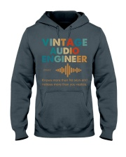 Vintage Audio Engineer Knows More Than He Says Hooded Sweatshirt thumbnail