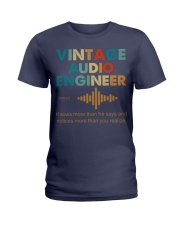 Vintage Audio Engineer Knows More Than He Says Ladies T-Shirt thumbnail