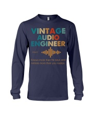 Vintage Audio Engineer Knows More Than He Says Long Sleeve Tee thumbnail