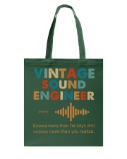 Vintage Sound Engineer Knows More Than He Says Tote Bag thumbnail
