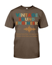 Vintage Sound Engineer Knows More Than He Says Classic T-Shirt thumbnail