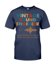 Vintage Sound Engineer Knows More Than He Says Premium Fit Mens Tee thumbnail