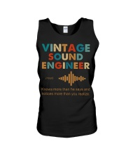 Vintage Sound Engineer Knows More Than He Says Unisex Tank thumbnail