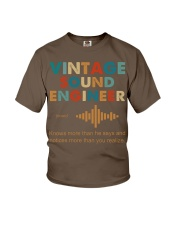 Vintage Sound Engineer Knows More Than He Says Youth T-Shirt thumbnail
