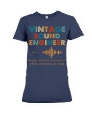 Vintage Sound Engineer Knows More Than He Says Premium Fit Ladies Tee thumbnail