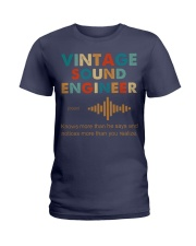 Vintage Sound Engineer Knows More Than He Says Ladies T-Shirt thumbnail