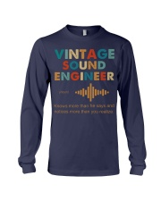 Vintage Sound Engineer Knows More Than He Says Long Sleeve Tee thumbnail