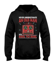 Never Underestimate An Old Man With Reel To Reel Hooded Sweatshirt thumbnail