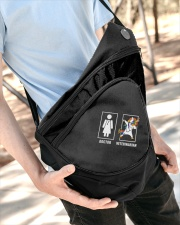 Veterinarian Unicorn Sling Pack Sling Pack garment-embroidery-slingpack-lifestyle-08