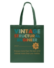 Vintage Structural Engineer Knows More Than He Tote Bag thumbnail
