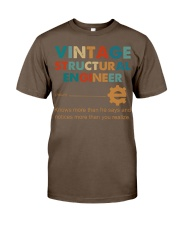 Vintage Structural Engineer Knows More Than He Classic T-Shirt thumbnail