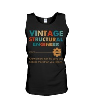 Vintage Structural Engineer Knows More Than He Unisex Tank thumbnail