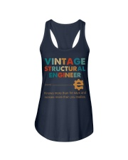 Vintage Structural Engineer Knows More Than He Ladies Flowy Tank thumbnail