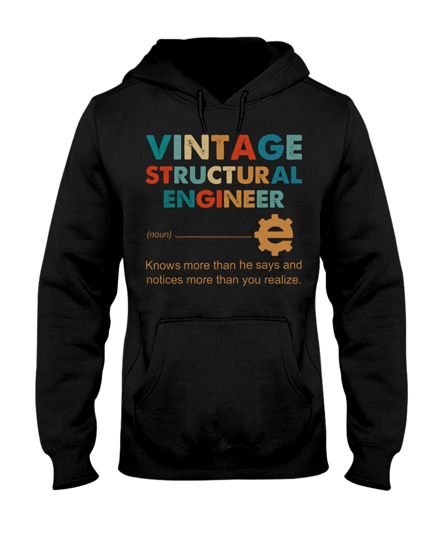 Vintage Structural Engineer Knows More Than He Hooded Sweatshirt