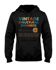 Vintage Structural Engineer Knows More Than He Hooded Sweatshirt front