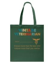 Vintage Veterinarian Knows More Than He Says Tote Bag thumbnail