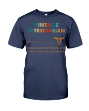 Vintage Veterinarian Knows More Than He Says Premium Fit Mens Tee thumbnail
