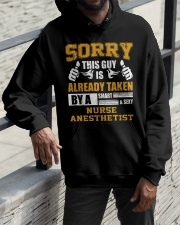 Sorry This Guy Taken By Nurse Anesthetist Hooded Sweatshirt apparel-hooded-sweatshirt-lifestyle-front-11