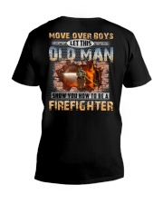 Let This Old Man Show You Firefighter V-Neck T-Shirt thumbnail