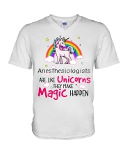 Anesthesiologists Are Like Unicorns V-Neck T-Shirt tile