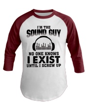 I'm The Sound Guy No One Knows Baseball Tee front