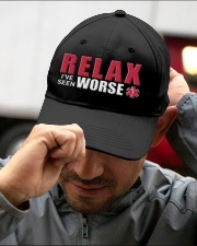 Relax I've Seen Worse Embroidered Hat garment-embroidery-hat-lifestyle-01