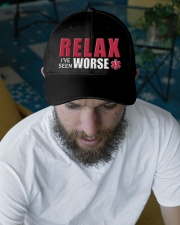 Relax I've Seen Worse Embroidered Hat garment-embroidery-hat-lifestyle-06